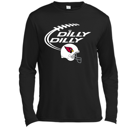DILLY DILLY Arizona Cardinals NFL Team Logo Black / Small LS Moisture Absorbing Shirt - PresentTees