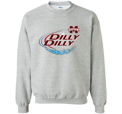 Dilly Dilly Mississippi State Logo American Team Bud Light T-Shirt Crewneck Pullover Sweatshirt 8 oz - PresentTees