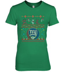 New York Giants Christmas Grateful Dead Jingle Bears Football Ugly Sweatshirt Womens Premium T-Shirt