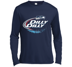 Seattle Seahawks SEA Dilly Dilly Bud Light T Shirt SEA NFL Football Gift for Fans LS Moisture Absorbing Shirt - PresentTees