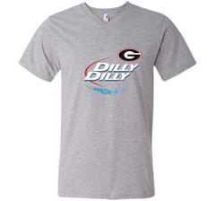 Dilly Dilly Georgia Bulldogs T-Shirt Georgia Bulldog Football Gift for Fans Men Printed V-Neck Tee - PresentTees