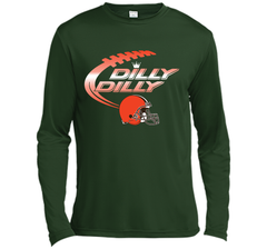 Cleveland Browns Dilly Dilly Bud Light T-Shirt NFL Football for Fans LS Moisture Absorbing Shirt - PresentTees