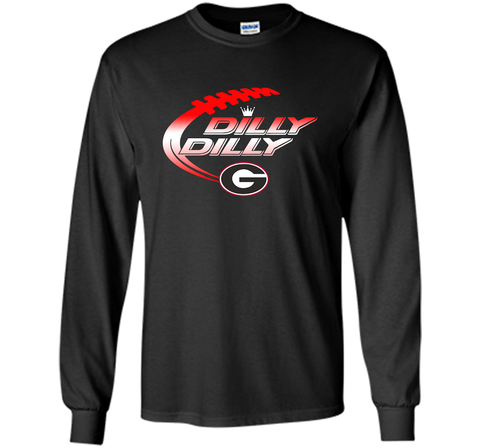 Georgia Bulldogs Dilly Dilly T-Shirt Dilly Dilly Georgia Bulldog for Football Fans Black / Small LS Ultra Cotton TShirt - PresentTees