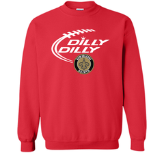 DILLY DILLY  New Orleans Saints shirt Crewneck Pullover Sweatshirt 8 oz - PresentTees