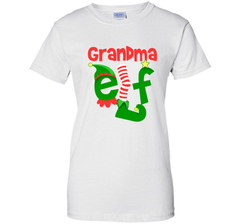 Grandma Elf - T-Shirt Christmas Family Matching Pajamas Gift Ladies Custom - PresentTees