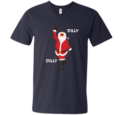Dilly Dilly Christmas Santa Get Lit T Shirt Men Printed V-Neck Tee - PresentTees