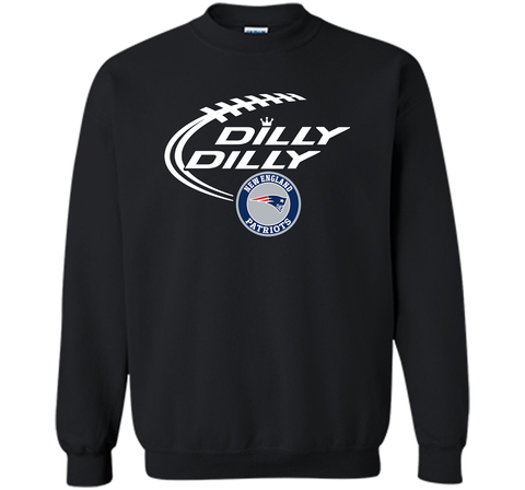 DILLY DILLY  New England Patriots shirt Black / Small Crewneck Pullover Sweatshirt 8 oz - PresentTees