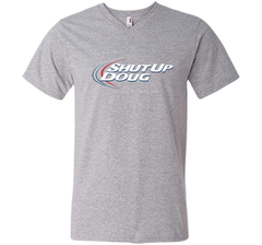 Bud Light Dilly Dilly Shut Up Doug T-Shirt Men Printed V-Neck Tee - PresentTees