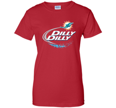 Miami Dolphins MIA Dilly Dilly Bud Light T Shirt MIA NFL Football Shirts Gift for Fans Ladies Custom - PresentTees