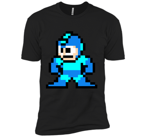 Megaman Pixel  T-Shirt Black / Small Next Level Premium Short Sleeve Tee - PresentTees