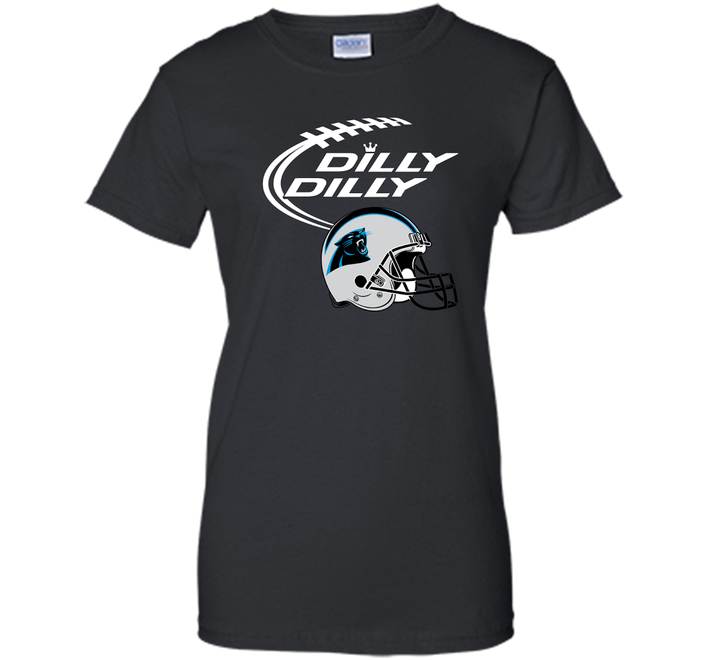 0f5d4e02e DILLY DILLY Carolina Panthers NFL Team Logo Ladies Custom - PresentTees