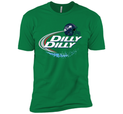 Seattle Seahawks Dilly Dilly Bud Light T Shirt SEA NFL Football Next Level Premium Short Sleeve Tee - PresentTees