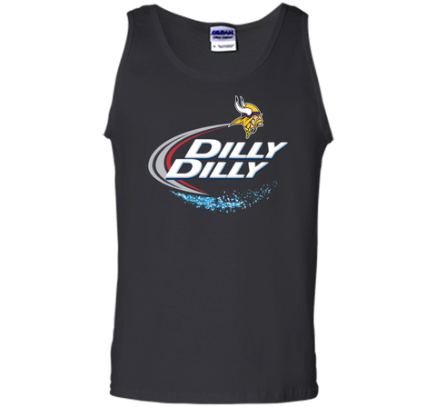 Vikings Dilly Dilly T-Shirt Minnesota Vikings NFL Football Gift Fans Black / Small Tank Top - PresentTees