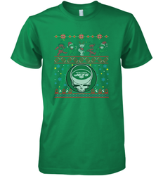 New York Jets Christmas Grateful Dead Jingle Bears Football Ugly Sweatshirt Mens Premium T-Shirt