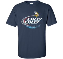 Vikings Dilly Dilly T-Shirt Minnesota Vikings NFL Football Gift Fans Custom Ultra Cotton Tshirt - PresentTees