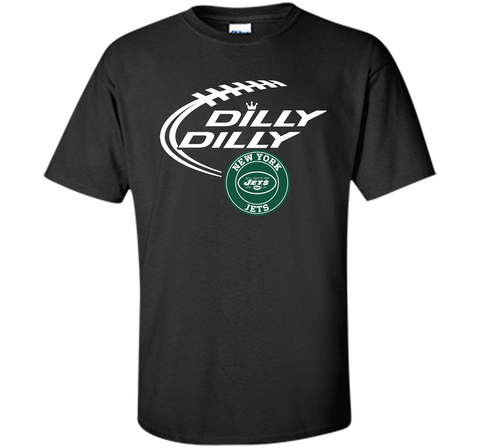 DILLY DILLY New York Jets shirt Black / Small Custom Ultra Cotton Tshirt - PresentTees