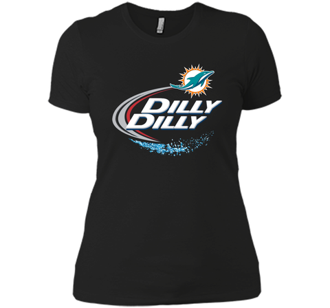 Miami Dolphins MIA Dilly Dilly Bud Light T Shirt MIA NFL Football Shirts Gift for Fans Black / Small Next Level Ladies Boyfriend Tee - PresentTees