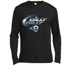 Los Angeles Rams Dilly Dilly Bud Light T Shirt LAR NFL Football Team Gift for Fans LS Moisture Absorbing Shirt - PresentTees
