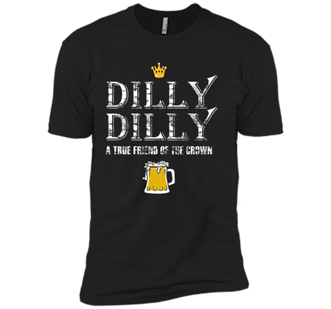 Dilly Dilly A True Friend Of The Crown Beer Lovers T Shirt Black / Small Next Level Premium Short Sleeve Tee - PresentTees