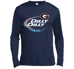 Dilly Dilly Georgia Bulldogs T-Shirt Georgia Bulldog Football Gift for Fans LS Moisture Absorbing Shirt - PresentTees