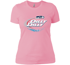 Seattle Seahawks SEA Dilly Dilly Bud Light T Shirt SEA NFL Football Gift for Fans Next Level Ladies Boyfriend Tee - PresentTees