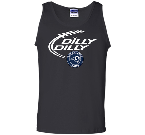 DILLY DILLY  Los Angeles Rams shirt Black / Small Tank Top - PresentTees