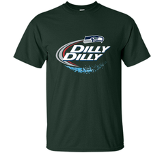 Seattle Seahawks SEA Dilly Dilly Bud Light T Shirt SEA NFL Football Gift for Fans Custom Ultra Cotton Tshirt - PresentTees