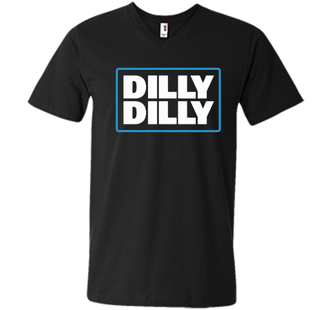 Bud Light Official Dilly Dilly Black / Small Men Printed V-Neck Tee - PresentTees