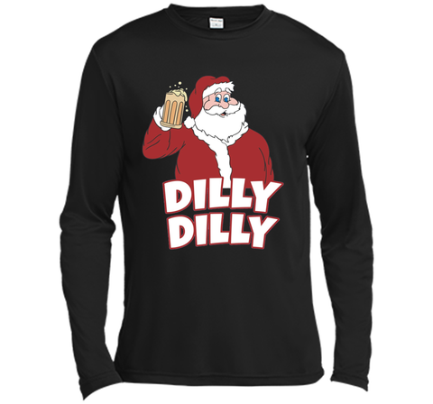 Christmas Santa Claus Dilly Dilly Shirt Gift 4 Beer T Shirt Black / Small LS Moisture Absorbing Shirt - PresentTees