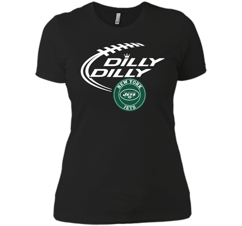 DILLY DILLY New York Jets shirt Black / Small Next Level Ladies Boyfriend Tee - PresentTees