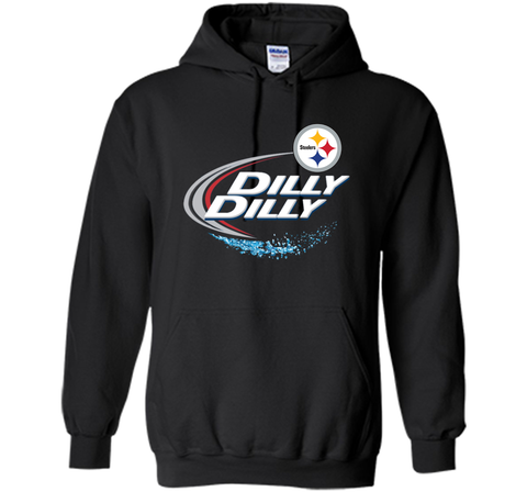 Pittsburgh Steelers Dilly Dilly T-Shirt NFL Football Gift Fans Black / Small Pullover Hoodie 8 oz - PresentTees