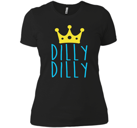 Bud Light Dilly Dilly Crown T-Shirt Black / Small Next Level Ladies Boyfriend Tee - PresentTees