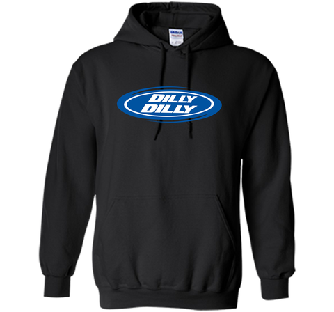 Bud Light Dilly Dilly Oval Blue Shirt Black / Small Pullover Hoodie 8 oz - PresentTees