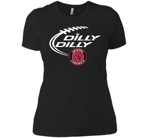 DILLY DILLY Arizona Cardinals shirt Black / Small Next Level Ladies Boyfriend Tee - PresentTees