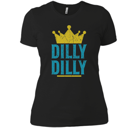 Dilly Dilly A True friend of the crown King T Shirt Black / Small Next Level Ladies Boyfriend Tee - PresentTees
