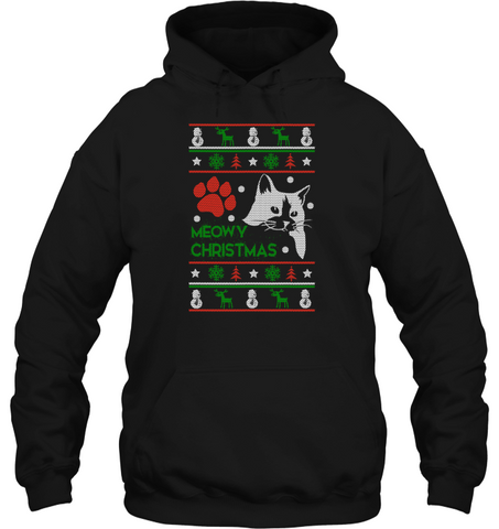 Cat Christmas Sweater.Meowy Christmas Shirt Ugly Cat Christmas Sweater