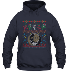 New Orleans Saints Christmas Grateful Dead Jingle Bears Football Ugly Sweatshirt Adult Unisex Hoodie Sweatshirt