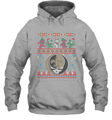 New Orleans Saints Christmas Grateful Dead Jingle Bears Football Ugly Sweatshirt Adult Unisex Hoodie Sweatshirt Adult Unisex Hoodie Sweatshirt - PresentTees