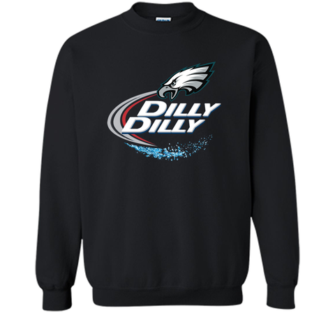 Philadelphia Eagles Dilly Dilly T-Shirt NFL Football Gift Fans Black / Small Crewneck Pullover Sweatshirt 8 oz - PresentTees