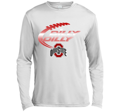 Dilly Dilly Ohio State Buckeyes T-Shirt Ohio State Dilly Dilly Bud Light Shirts LS Moisture Absorbing Shirt - PresentTees