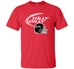 Dilly Dilly Baltimore Ravens Logo American Football Team Bud Light Christmas T-Shirt Custom Ultra Cotton Tshirt - PresentTees