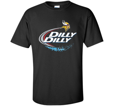 Vikings Dilly Dilly T-Shirt Minnesota Vikings NFL Football Gift Fans Black / Small Custom Ultra Cotton Tshirt - PresentTees