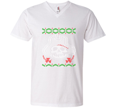 Pirate Christmas Ugly Sweater T-Shirt Men Printed V-Neck Tee - PresentTees