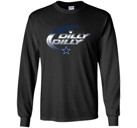 Dilly Dilly Dallas Cowboys T-Shirt Dallas Cowboys Dilly Dilly NFL Football Gift for Fans Black / Small LS Ultra Cotton TShirt - PresentTees