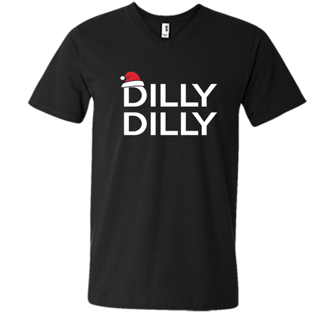 Dilly Dilly Christmas Beer T Shirt for Men and Women T Shirt Black / Small Men Printed V-Neck Tee - PresentTees
