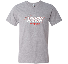 Patriot Nation Dilly Dilly T-Shirt Men Printed V-Neck Tee - PresentTees