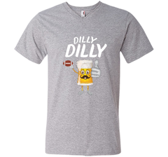 Bud Light Dilly Dilly Funny Football Beer T Shirt Men Printed V-Neck Tee - PresentTees