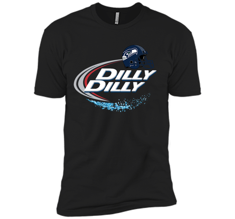Seattle Seahawks Dilly Dilly Bud Light T Shirt SEA NFL Football Black / Small Next Level Premium Short Sleeve Tee - PresentTees