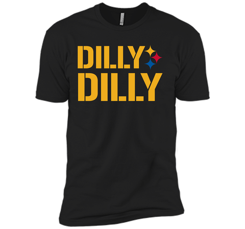 DILLY DILLY LOGO STEELERS Black / Small Next Level Premium Short Sleeve Tee - PresentTees