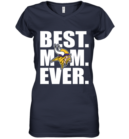 Best Minnesota Vikings Mom Ever NFL Team Mother's Day Gift Women's V-Neck T-Shirt